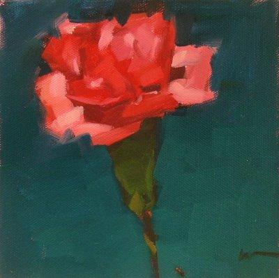 """""""Carnation 2 & Arte y Pico"""" original fine art by Carol Marine"""