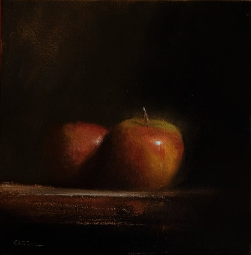 """Apple Shine"" original fine art by Neil Carroll"