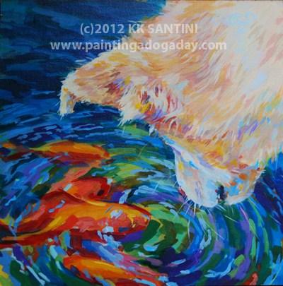 """One Fish, Two Fish"" original fine art by Kimberly Santini"