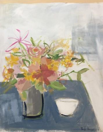 """""""little white bowl"""" original fine art by Pamela Munger"""