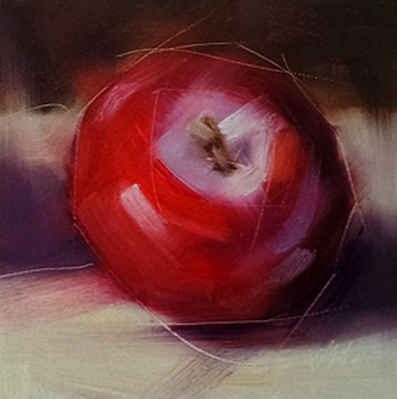 """Red Plum"" original fine art by Cindy Haase"