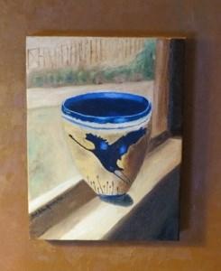 """Crane Vase in a Garden Window"" original fine art by Bob Blackmon"