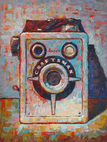 """Ansco Craftsman Box Camera"" original fine art by Raymond Logan"