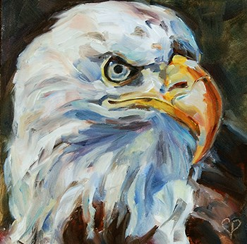 """Day 6 of 30 — Eagle Eye"" original fine art by Carol DeMumbrum"