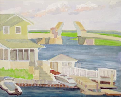 """Stone Harbor"" original fine art by Priscilla Bohlen"