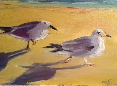 """Out for a Stroll"" original fine art by Debra Kennedy"