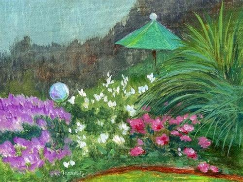 """Windflowers and Swinging"" original fine art by Sue Furrow"
