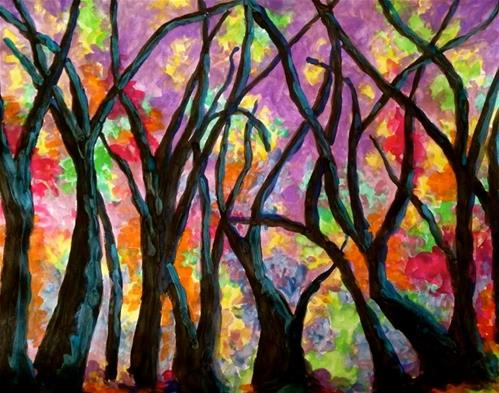 """Black forest tress"" original fine art by Barbara Beckmann"