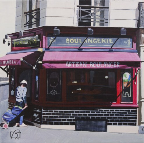 """Boulangerie II"" original fine art by Andre Beaulieu"