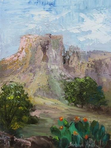 """Mesa in Big Bend National Park  Texas"" original fine art by Barbara Haviland"