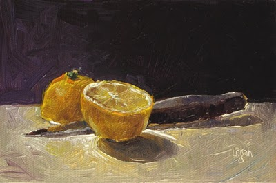 """Murdered Lemon"" original fine art by Raymond Logan"