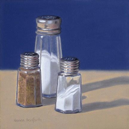 """Salt and Pepper Shakers"" original fine art by Nance Danforth"