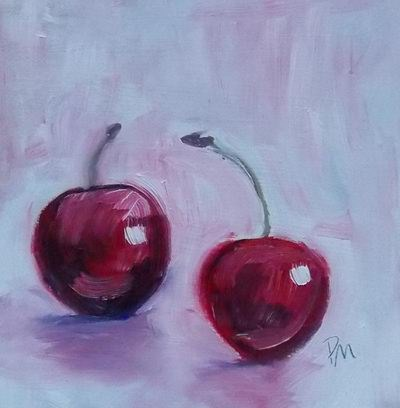 """Cherry Love"" original fine art by Pamela Munger"