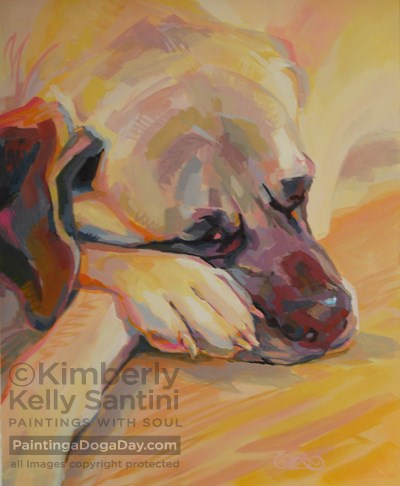 """Angel, Finished"" original fine art by Kimberly Santini"