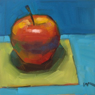 """Just an Apple --- SOLD"" original fine art by Carol Marine"