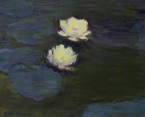 """Monet Water Lilies Reproduction"" original fine art by Phil Couture"