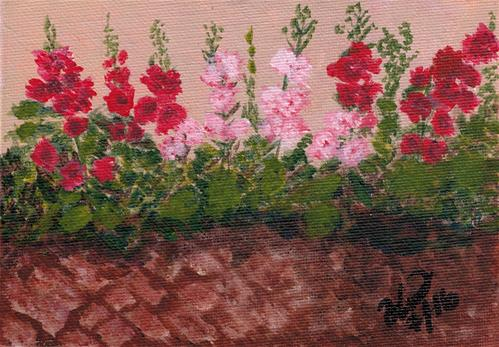 """Garden Wall"" original fine art by Donna Vieth"