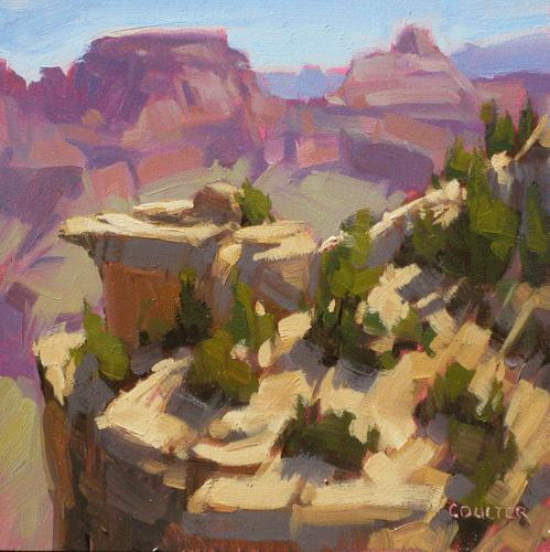 """CANYON EARLY LIGHT"" original fine art by James Coulter"