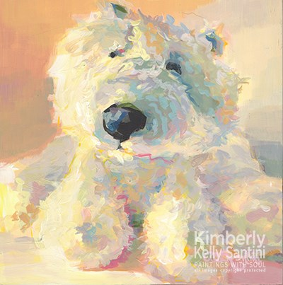 """Polar"" original fine art by Kimberly Santini"