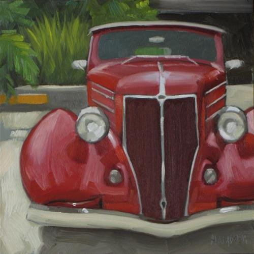 """1936 Ford 6x6 oil"" original fine art by Claudia Hammer"