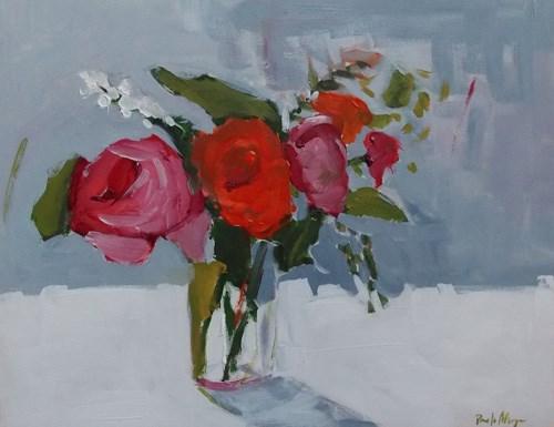 """""""Rose on Grey"""" original fine art by Pamela Munger"""