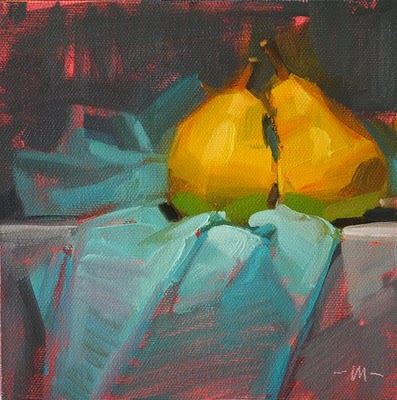 """Pear Passion"" original fine art by Carol Marine"