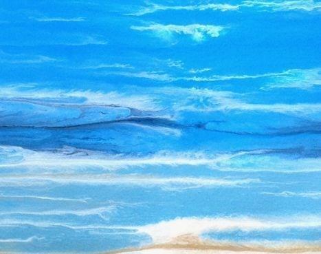 """Royal Wave-Study 4 by Kimberly Conrad"" original fine art by Kimberly Conrad"