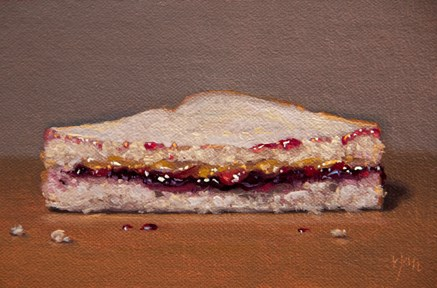 """PB & J Half"" original fine art by Abbey Ryan"