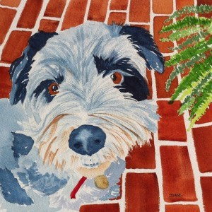 """Barney"" original fine art by Dana Richards"