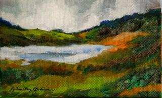 """Misty Rain"" original fine art by JoAnne Perez Robinson"