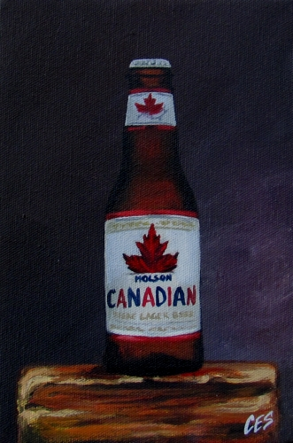"""Molson Canadian"" original fine art by ~ces~ Christine E. S. Code"