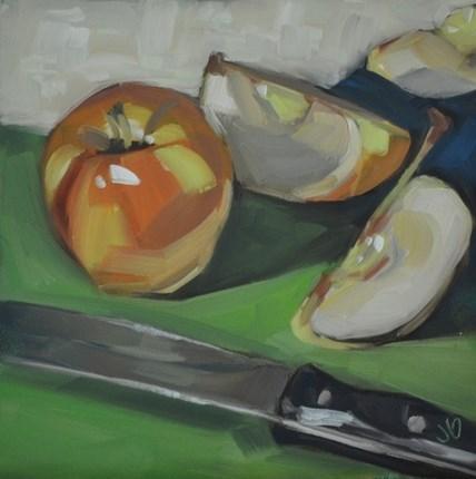 """Apple Slicing"" original fine art by Jessica Green"
