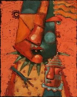 """Mom E. & Dearest"" original fine art by Brenda York"