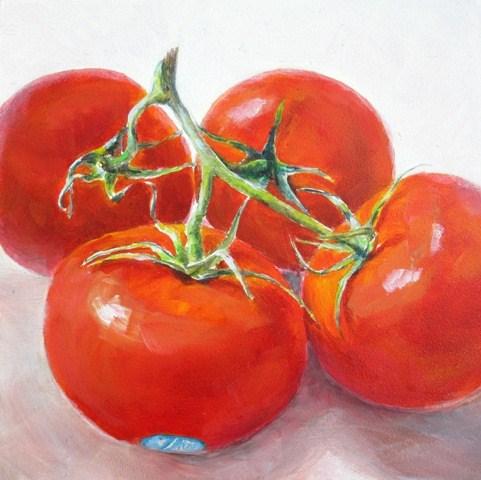 """Stem Tomatoes"" original fine art by Linda Demers"