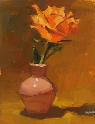 """Desert Rose --- SOLD"" original fine art by Carol Marine"