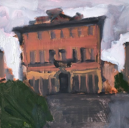 """Overcast, Trastevere"" original fine art by Kevin Inman"
