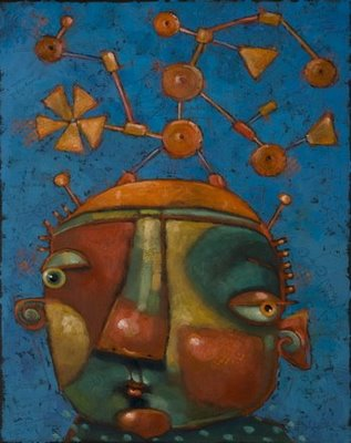 """Tinker Boy"" original fine art by Brenda York"