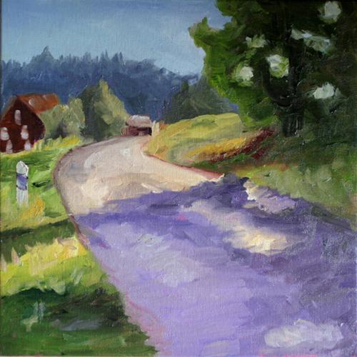"""Carol's German Landscape"" original fine art by Kristen Dukat"