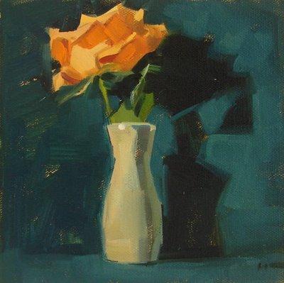 """Distressed --- SOLD"" original fine art by Carol Marine"