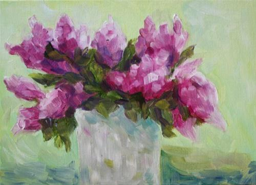 """Lilacs"" original fine art by Maggie Flatley"