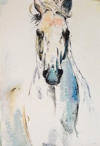 """Blue Boy"" original fine art by Charlotte Cox"