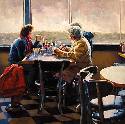 """Bay Breakfast"" original fine art by Karin Jurick"