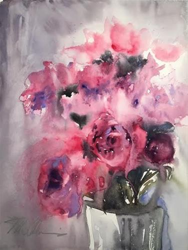 """Peonies Plus"" original fine art by Brienne M Brown"