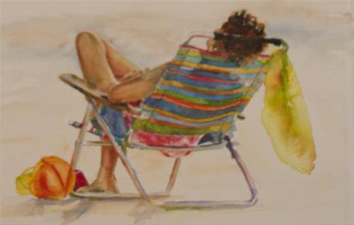 """Chillaxin"" original fine art by Sue Churchgrant"