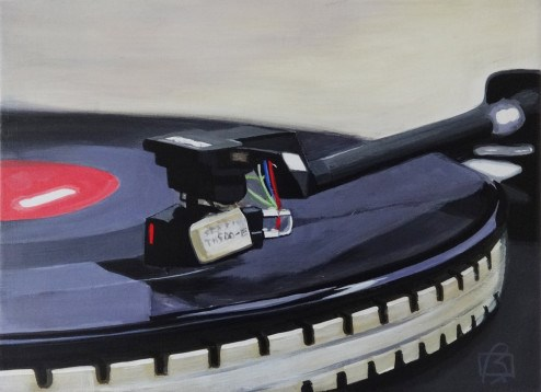 """Platine vinyle V"" original fine art by Andre Beaulieu"
