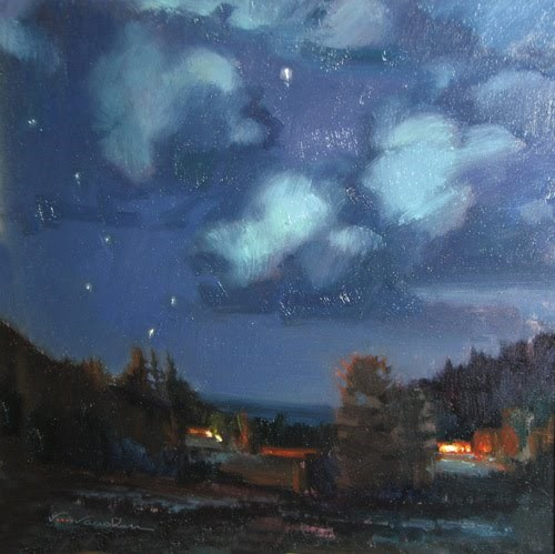 """2016 Colorado Moon Light Workshop"" original fine art by V.... Vaughan"
