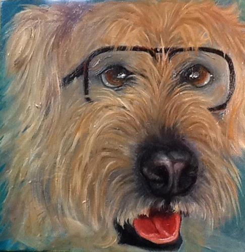 """I C U, Dr. Dog"" original fine art by Nancy Levinson"