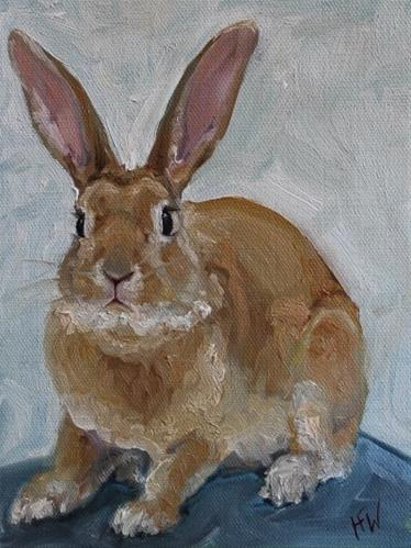 """Caramel Bunny"" original fine art by H.F. Wallen"