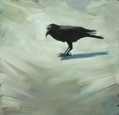 """Black Crow"" original fine art by Michael Naples"