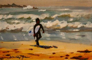 """Surfer Dude"" original fine art by JoAnne Perez Robinson"